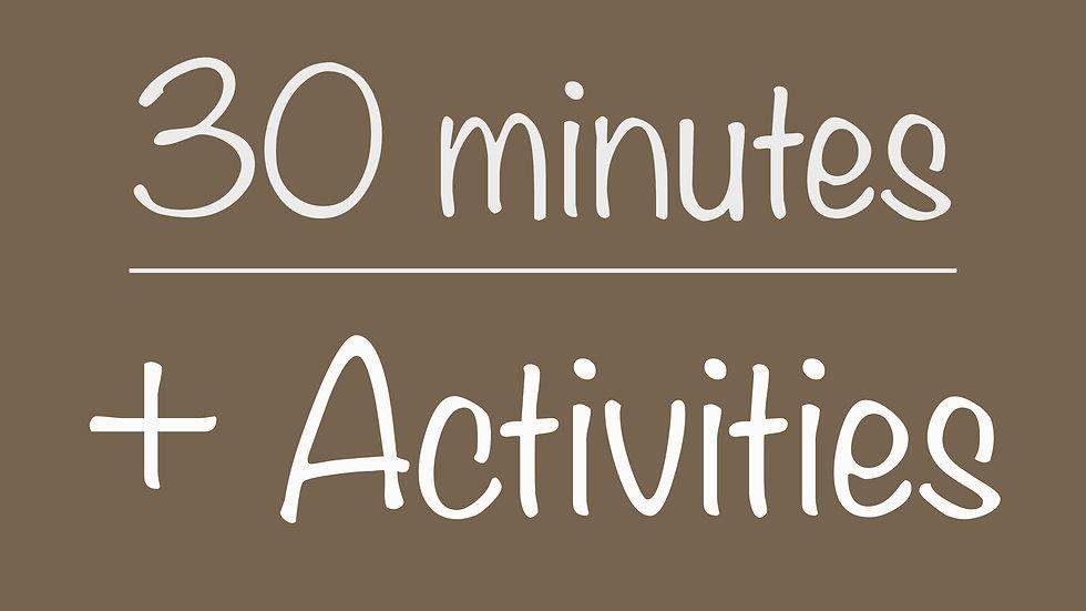 Scouts 30-minute+ Activities Virtual Program