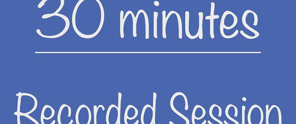 PreK 30-minute Recorded Program