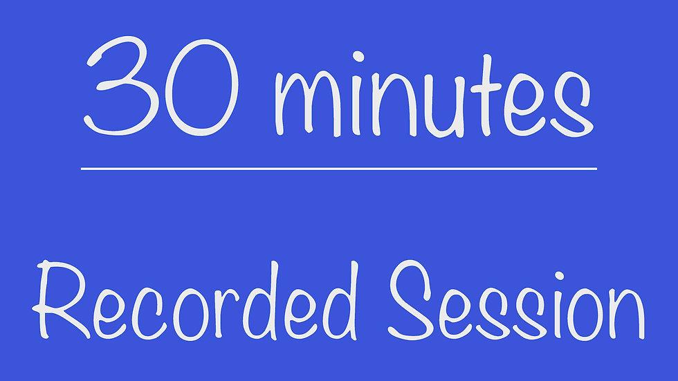 Parents 30-minute Recorded Virtual Program