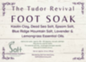 Tudor Revival Soak Label - 3.5%22 x 2.5%