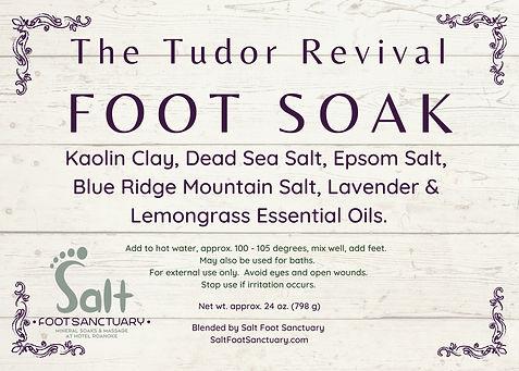 Tudor Revival Soak Label - 3.5%22 x 2.5%