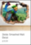 Zelda Smashed Wall Decal