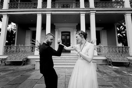 candid wedding portraits with fun poses