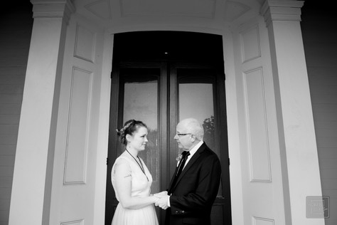 father and daughter formal portrait