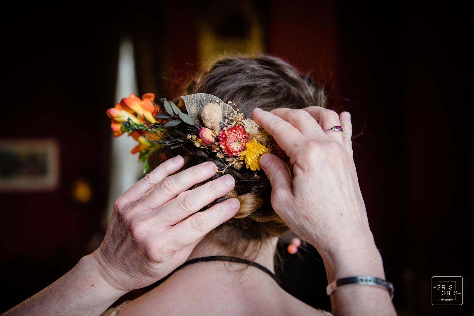 Boho wedding hair style