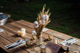 table set and decorations for a wedding at paradigm gardens