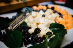 Cheese plate durring wedding reception