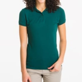 Lee Ladies Adult Short Sleeve Polo Pique  Green