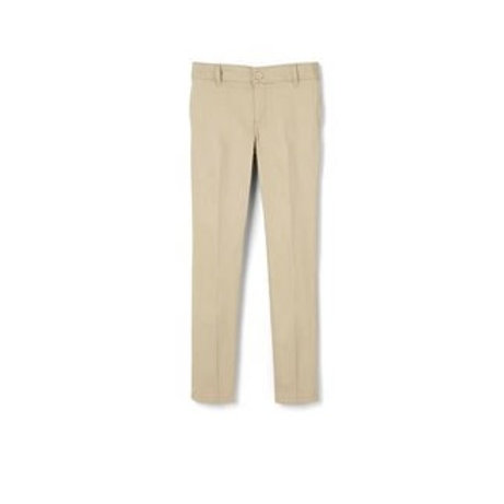 French Toast Girls Skinny  Relaxed Fit Twill Pant Khaki