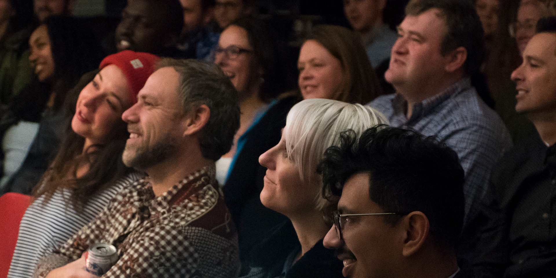 Audience at Front Porch Improv show, January 2018