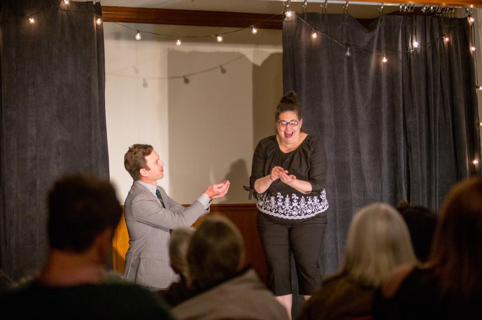 Date Night comedy scene at Front Porch Improv