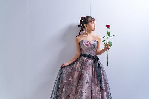 お花柄アンティークドレス