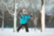Young Boy på ski
