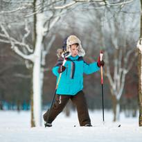 Heja, heja. Perfekt att träna skidåkning i Vålådalens vackra skogar.