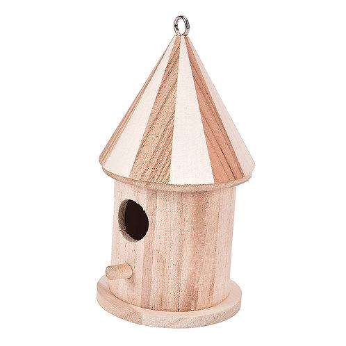 Wooden Birdhouse With Loop