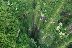 Hawaii Waterfall via Helicopter