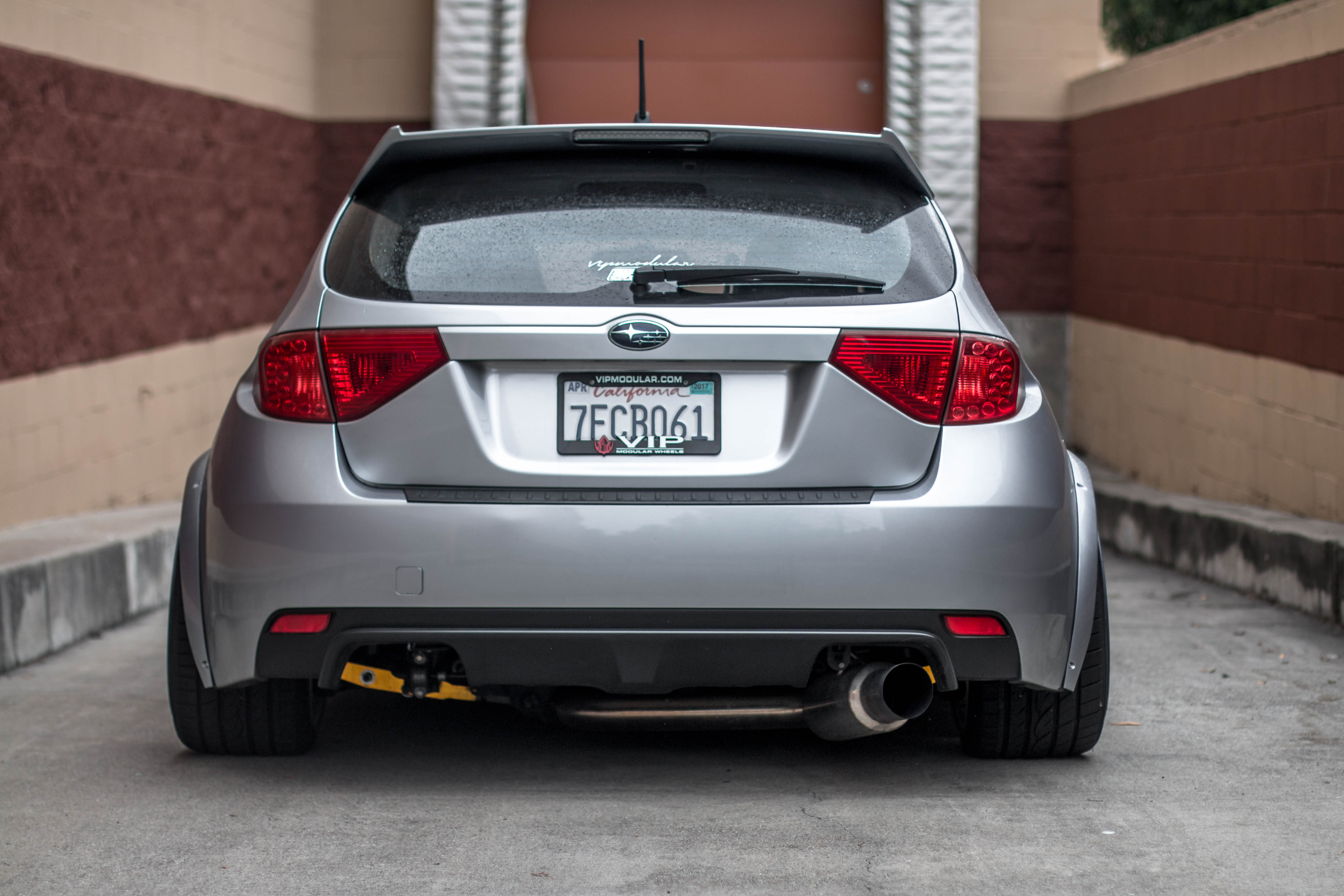 Bagged Subaru STI