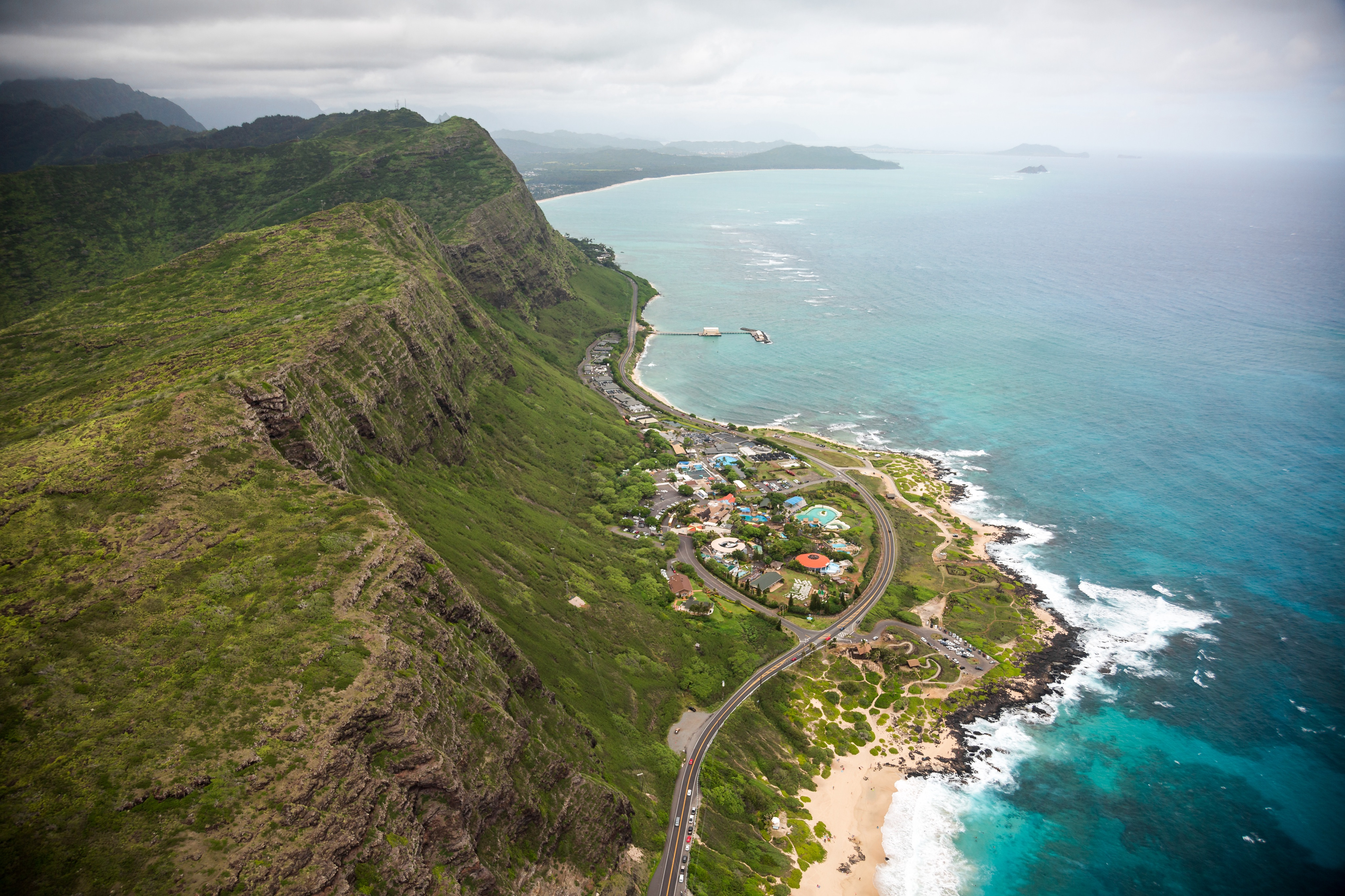 Oahu, via Helicopter