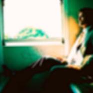 Sitting on Train