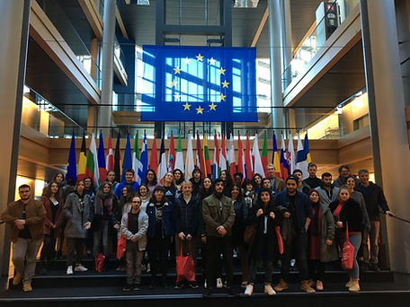 Visite du Parlement européen Jeunes Européens Strasbourg