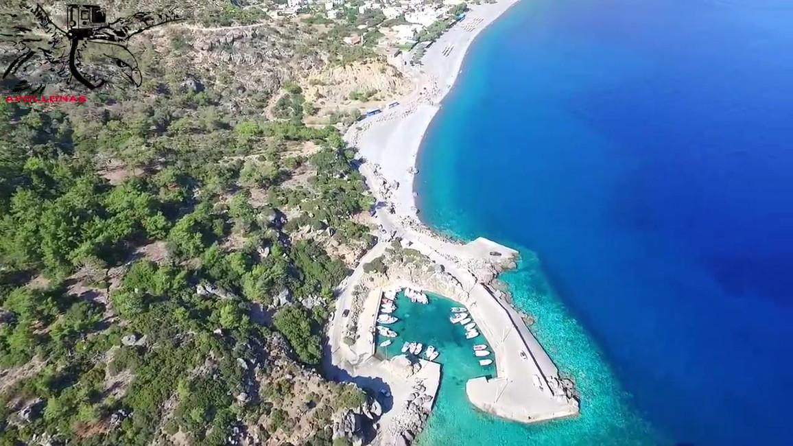 Crete from Above Sougia Video