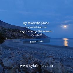 Sougia Beach in the Night