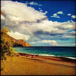Rainbow in Sougia