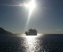 Ferry in Sougia