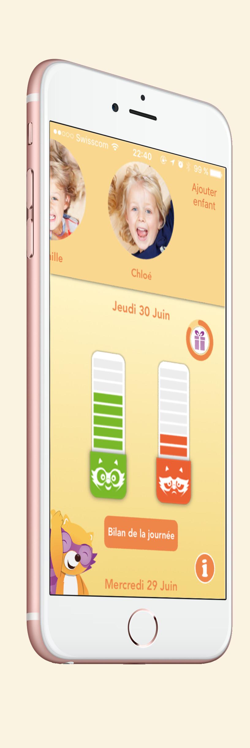 ecran Iphone6 menu principal