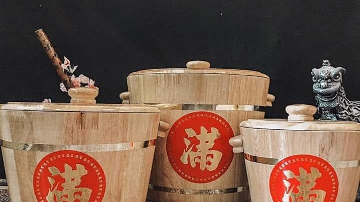 Rice Wood Bucket 米桶