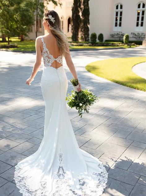 Stella York Wedding Dress with lace train
