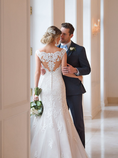 Stella York Wedding Dress with back detail
