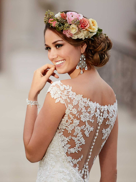 Stella York Wedding Dress with illusion lace back detail