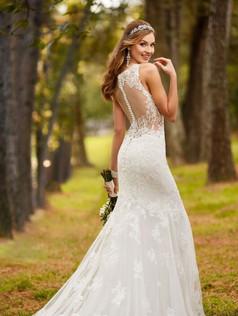 Stella York Wedding Dress with illusion back detail