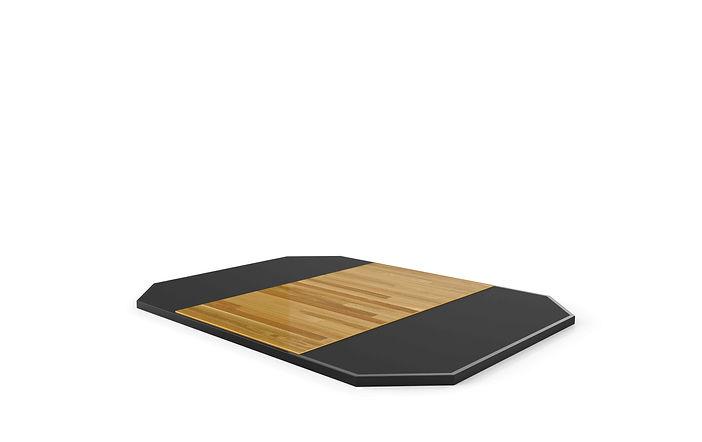 Stand-Alone Rubber Platform w/ Hardwood Insert