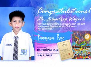 Mr. Kamonlapop Has Won Kanagawa Prize from Japan