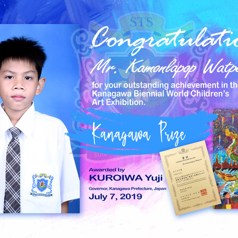 Mr. Kamonlapop Has Won Kanagawa Prize from Japan