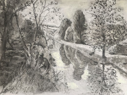Wiltshire River, charcoal project.