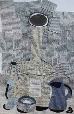 Lovely newsprint collage...