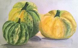 Three wonderful gourd paintings...