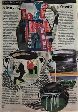 Lovely newsprint collage...