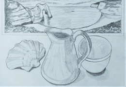 A really good beginning to a still-life/landscape project.