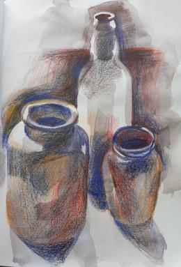 LESSON PLANS: WINTER TERM 2021, LESSON 3. Combining watercolour and colour pencils.