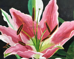 Lily painting in progress...