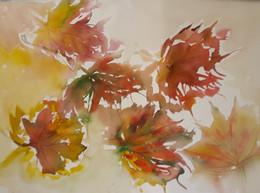 Watercolour leaves...