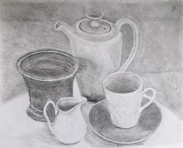 A really lovely still-life, working drawing...