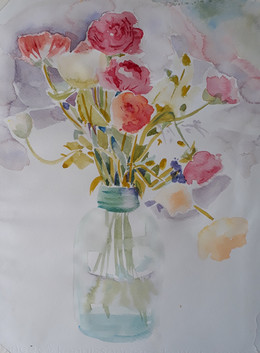 Wednesday's watercolours...