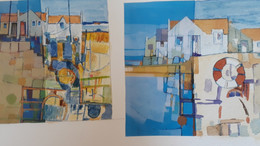 Thursday's collage and watercolour,