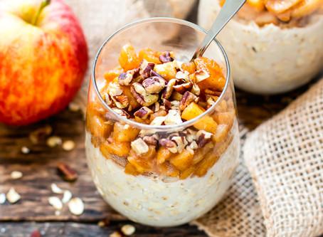 Porridge con mele e cannella