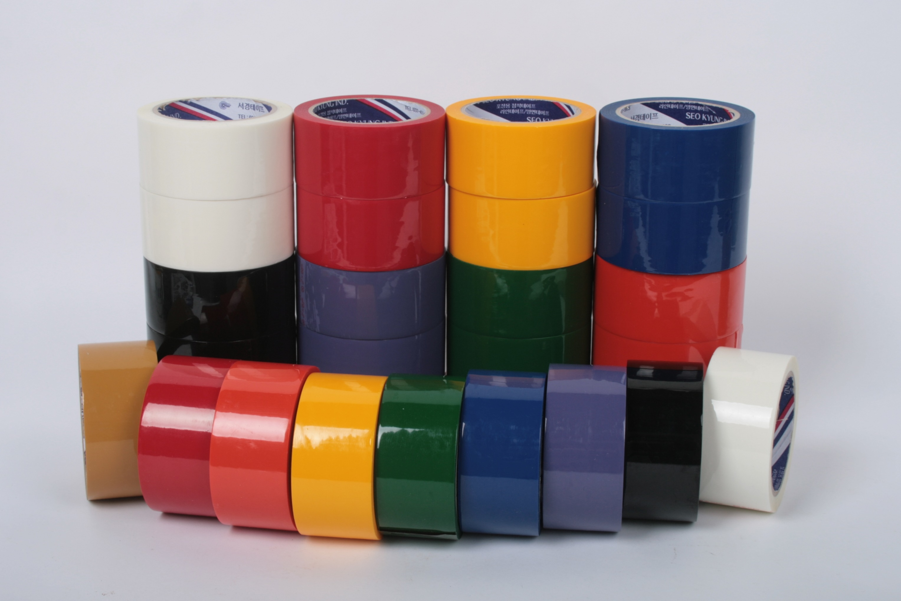 Rubber adhesive Color BOPP tape_2